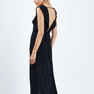 Topshop Dresses - Navy Blue Lace Prom Dress with Slits 💙